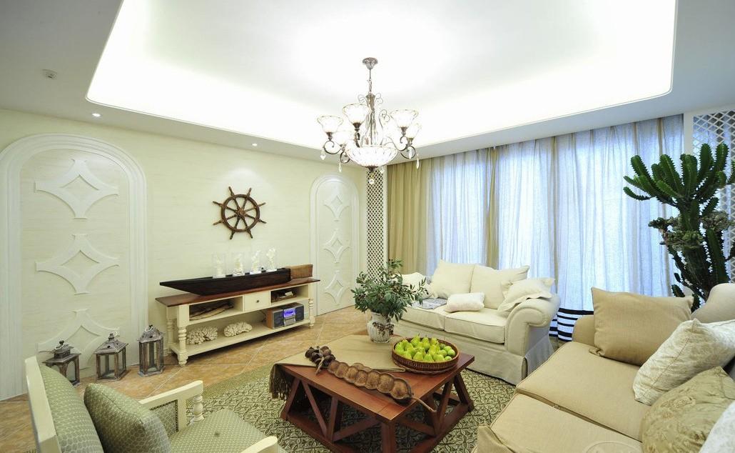 客厅图片来自向宏在西班牙地中海风格两室两厅的分享