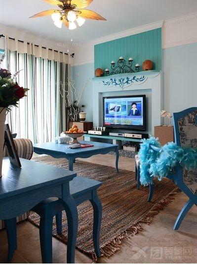 地中海 二居 80后 小资 客厅图片来自向宏在地中海风格两居的分享