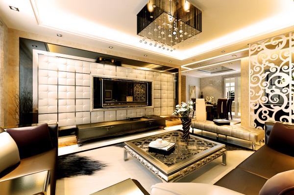 249平米简约时尚欧式范儿-客厅