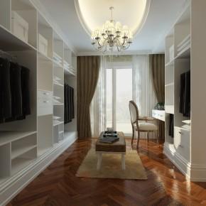 欧式 别墅 白富美 高富帅 天之骄子 衣帽间图片来自北京合建装饰在蓝岸丽舍 欧式典雅之姿的分享