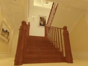 欧式 别墅 白富美 高富帅 天之骄子 楼梯图片来自北京合建装饰在蓝岸丽舍 欧式典雅之姿的分享