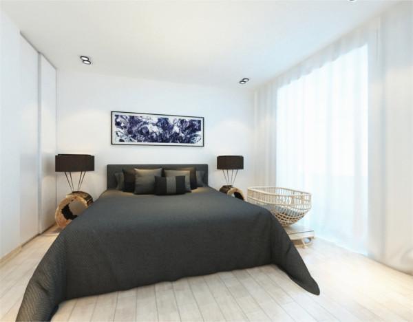 一个庄严的黑色卧室