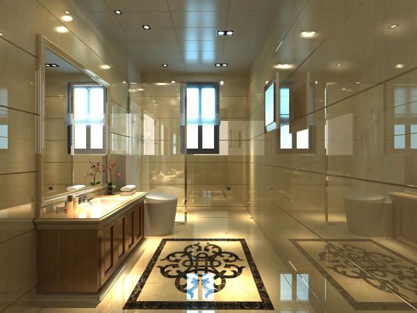 主卫墙面、地面、顶棚及家具陈列均以简洁的造型纯洁的质地精细的工艺为其特征。