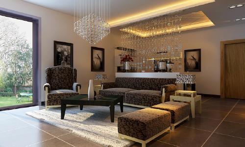 超凡装饰总店优秀设计师作品-升龙国际三室两厅现代简约风格案例赏析(客厅)
