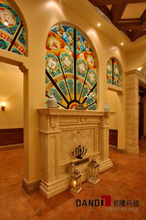美式 别墅 高富帅 名雕丹迪 海景别墅 名雕装饰 玄关图片来自名雕丹迪在200平美式海景别墅,休闲圣地的分享
