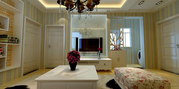 背景墙采用磨砂印花玻璃,提高室内采光。