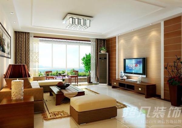 河南超凡装饰-非常国际四室两厅170平新中式装修案例(客厅)