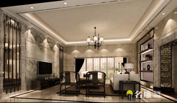 名雕装饰设计——家庭厅:色调对比鲜明,温馨,干净舒适