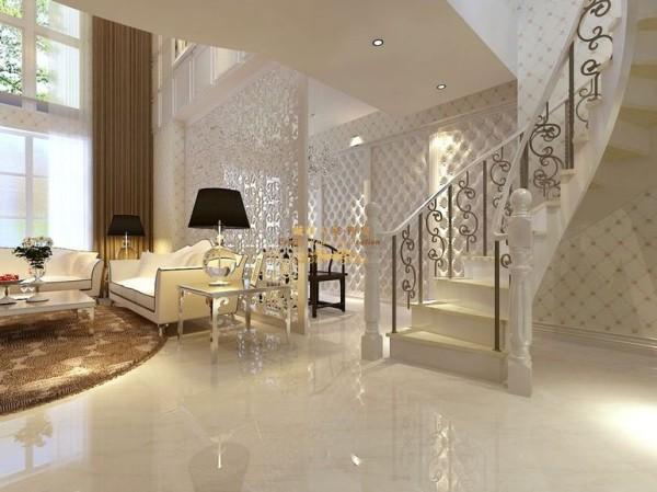 西安城市人家-曲江观邸-简欧风格-270平米复式装修设计