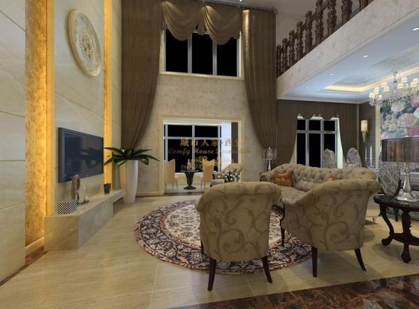 西安城市人家-白桦林间-简欧风格-220平米跃层装修设计