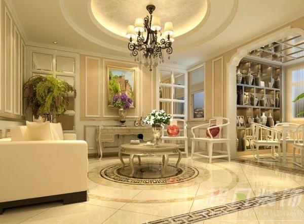 中凯铂宫400平米简欧风格别墅效果图-客厅
