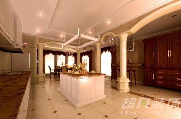 河南超凡装饰总部设计师作品-大河龙城360平欧式装修案例(餐厅)
