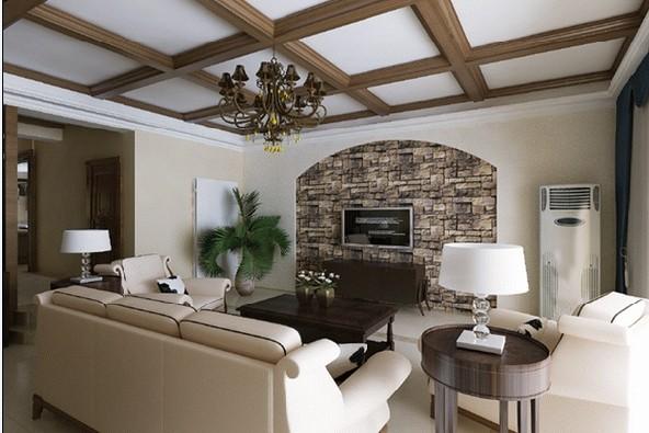 客厅:在客厅与阳台之间做风格处理,这样从视觉上显得挺会更大,沙发的后面采用了弧线造型,会显得比较大气,更有张力,电视墙那面色调以冷色为主,彰显大气。