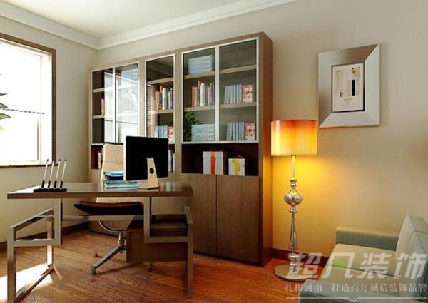 河南超凡装饰-非常国际四室两厅170平新中式装修案例(书房)