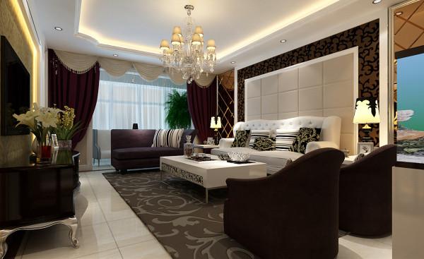 客厅大气、简约、沉稳,没有艳丽的色彩,没有过多累赘复杂的造型,给人以心灵的平静,体现了主人的内蕴品性。白色沙发搭配尤为重要,稳重又不失简约。