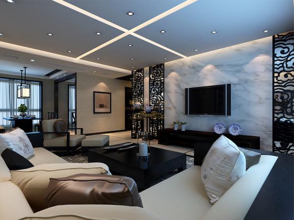 后期搭配的皮质和木质相结合的沙发与整体风格浑然一体。餐区采用镜面扩大视觉感。