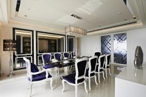 欧式 新古典 混搭 三居 白领 白富美 餐厅图片来自幸福空间在一眼爱上 黑白现代新古典宅邸的分享