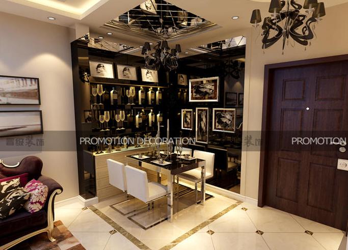 晋级装饰 欧式田园 现代简约 简约欧式 餐厅设计 餐厅图片来自沈阳性价比高的装修公司在简约欧式-别样的异国风情~的分享