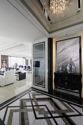 欧式 新古典 混搭 三居 白领 白富美 玄关图片来自幸福空间在一眼爱上 黑白现代新古典宅邸的分享