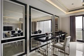 欧式 新古典 混搭 三居 白领 白富美 书房图片来自幸福空间在一眼爱上 黑白现代新古典宅邸的分享