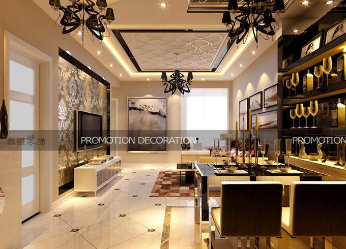 晋级装饰 欧式田园 现代简约 简约欧式 餐厅设计 客厅图片来自沈阳性价比高的装修公司在简约欧式-别样的异国风情~的分享