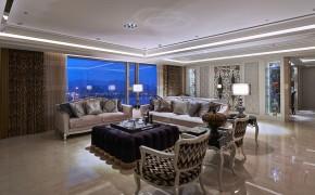 新古典 欧式 三居 白富美 公主房 白领 客厅图片来自幸福空间在298 m²精工时尚新古典的分享