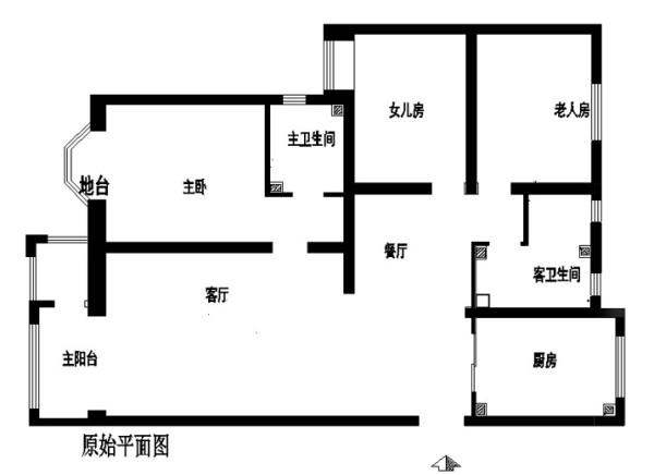 北京房山区装修公司-大宁山庄小区装修-150平米田园风格效果图