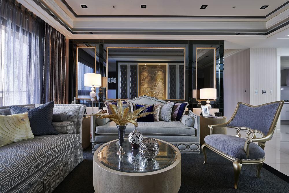 欧式 古典 高帅富 白富美 公主房 白领 混搭 客厅图片来自幸福空间在234m²非纯粹的古典重新演绎的分享