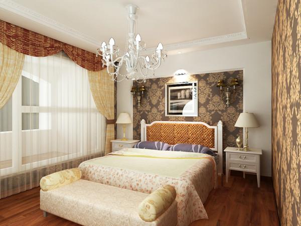 床头区域采用了石膏板凹凸造型做为床头北京,为床具设置好了摆放方向,同时也为大卧室做了一些修饰,整体效果不至于空旷,顶部也做了简单的造型,整体下压了一些,把整个空间营造出温馨舒适的休息空间。