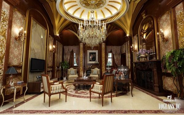 尚层别墅装饰 自建别墅 法式宫廷风格展示,在对业主充分沟通完毕后,对空间进行了合理化的归纳,本案设计考虑了私密性和功能娱乐性,使得业主在此环境中彰显尊贵感。