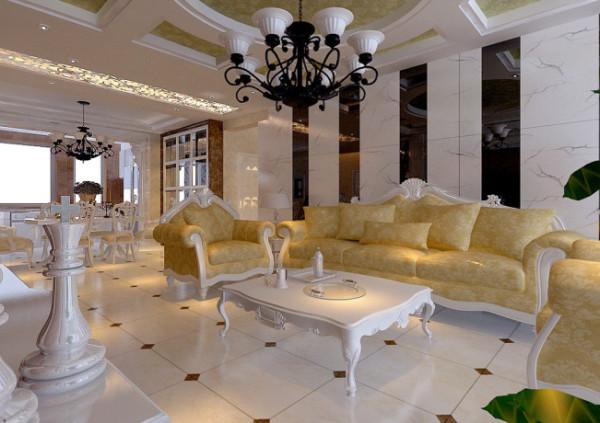 欧美风格-客厅沙发背景墙设计