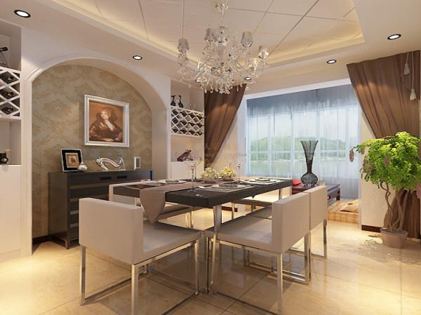 餐厅根据主人的社会背景和爱好,采用了浅色欧式的元素,欧式的家具既保留了传统的基本结构,局部的微做调整显示出了现代的美感,时尚的装饰画显得书房不那么的低沉,更有动感。铁艺的靠椅给人特别的舒服自然。