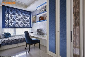巴洛克 古典 欧式 混搭 白领 白富美 公主房 书房图片来自幸福空间在165 m²繁复线条挥洒古典之美的分享