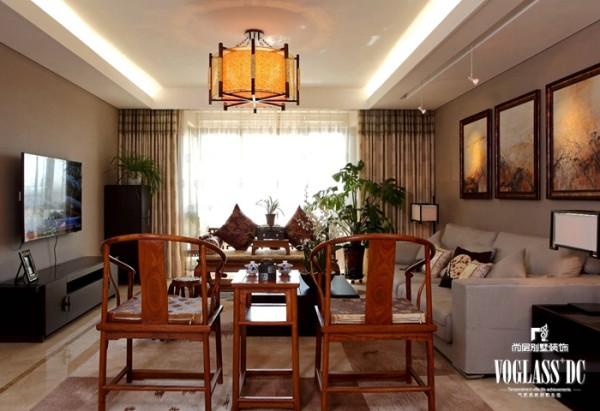 """尚层别墅装饰 招商嘉铭珑原 ,中国传统居室非常讲究空间的层次感。这种传统的审美观念在""""新中式""""装饰风格中,又得到了全新的阐释"""