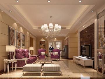 简欧风格--137平四居室个性家居