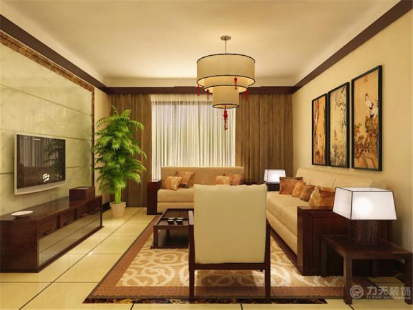 客厅通透光亮,大气典雅