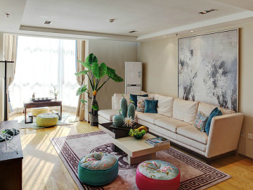 光大花园榕岸-现代风格-140平米