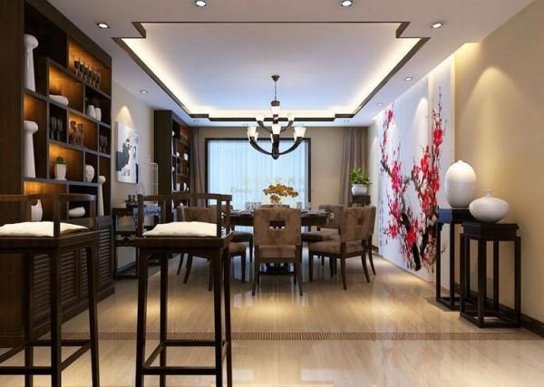 西安城市人家-东泰城市之光-中式风格-143平米三居室装修设计