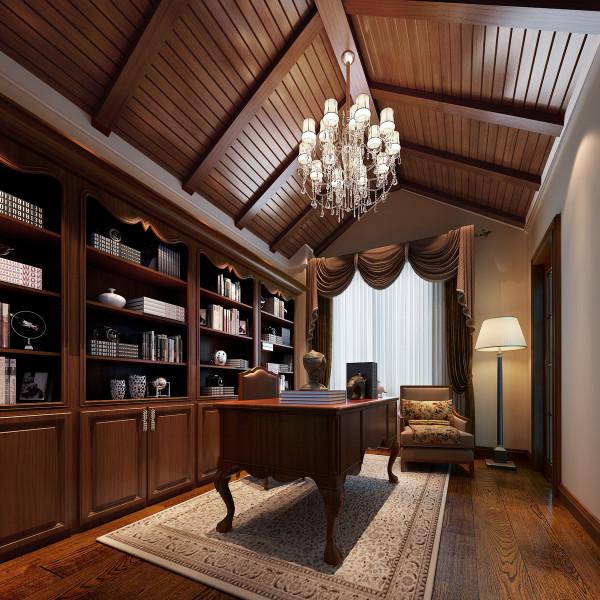 书房又称家庭工作室,是作为阅读、书写、学习、工作的空间,是人们结束一天工作之后再次回到办公环境的一个场所。因此,它既是办公室的延伸又是家庭生活的一部分。