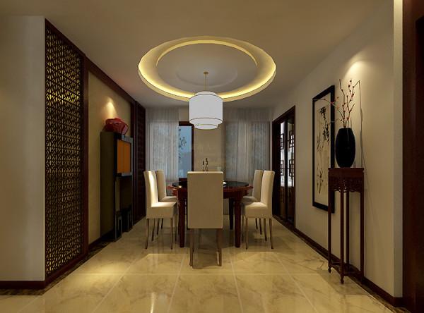 餐厅采用玉石光砖,充分营造大气的氛围。
