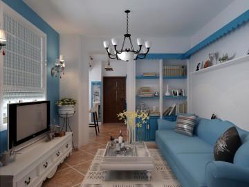 48平米小公寓浪漫风情地中海