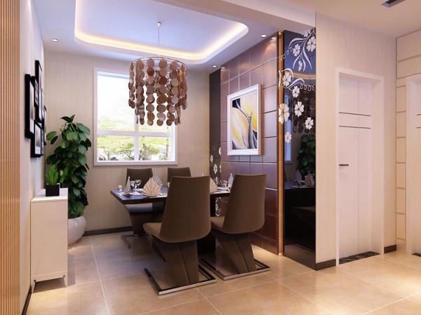 餐厅设计是精彩一笔。通过黑镜和藏光玻璃盒的设置,圆弧位透射出天井光线的玻璃砖墙,结合天花造型考虑周到的光源设计,有灰色与黄色的巧妙搭配,形成一种温暖、轻松、慵懒的居家气氛。