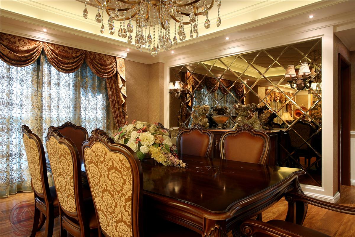 欧式 新古典 混搭 典雅 简约 时尚 三居 餐厅图片来自装修小管家在典雅时尚欧式古典的分享