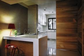 北欧 木质结构 温馨 自然 厨房图片来自木子鑫在简欧设计留住自然的家装的分享