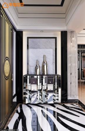 欧式 新古典 混搭 三居 白富美 高帅富 玄关图片来自幸福空间在黑与白 历久弥新的美学缩影的分享