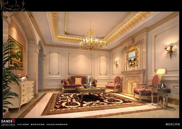 名雕丹迪设计——旁厅:宫廷般的尊贵里跳跃着灵动,掩藏不住的优雅溢满生活,轻轻泛发着内敛的格调与品味。