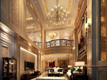 欧式风格—280平三层别墅装修