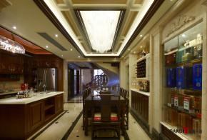 混搭 别墅 高富帅 名雕丹迪 别墅装修 厨房图片来自名雕丹迪在中西融合—600平混搭风别墅装修的分享