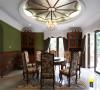 名雕装饰设计作品——餐厅:是招待来宾和宴请朋友使用的,在材料选择上多倾向于较硬、光挺、华丽的材质。餐厅基本上都与厨房相连,厨房的面积较大,操作方便、功能强大。