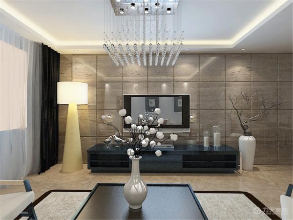 在整体空间中以简约装饰、清淡的色彩、精美的造型达到现代简约的效果。